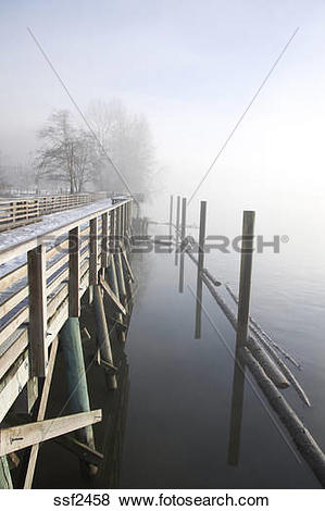 Pictures of Boardwalk along the Fraser River in Port Coquitlam in.