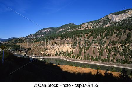 Stock Images of Fraser River by Williams Lake csp8787155.