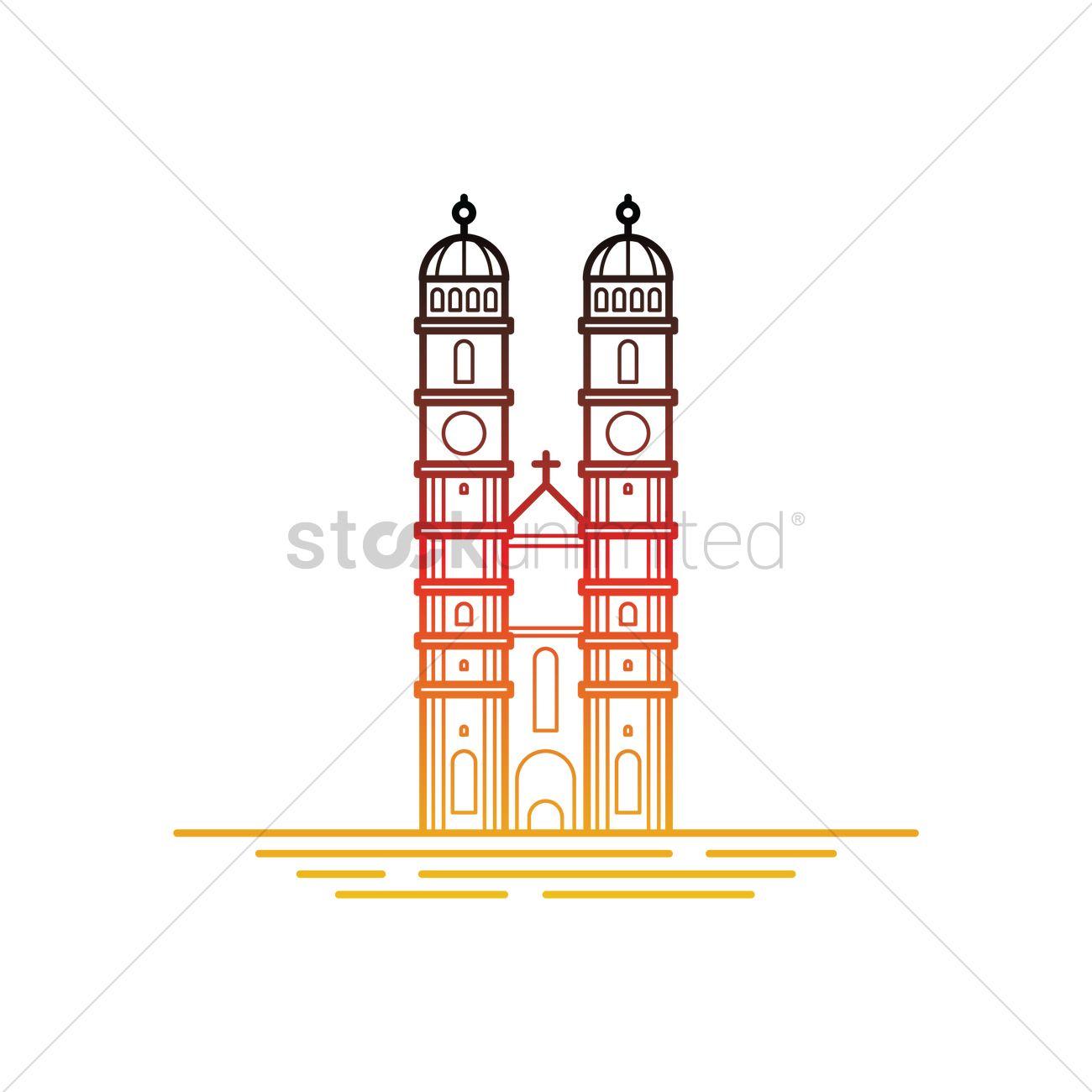 Frauenkirche munchen Vector Image.