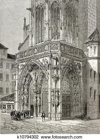 Clip Art of Frauenkirche portal k10794302.