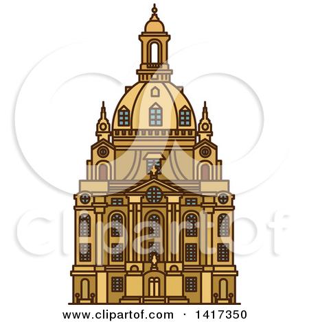 Clipart of a German Landmark, Frauenkirche.