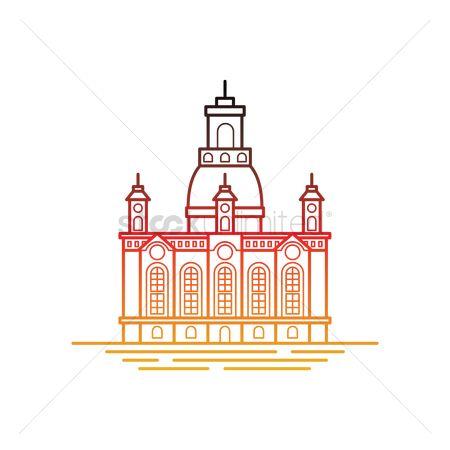Free Frauenkirche Dresden Stock Vectors.