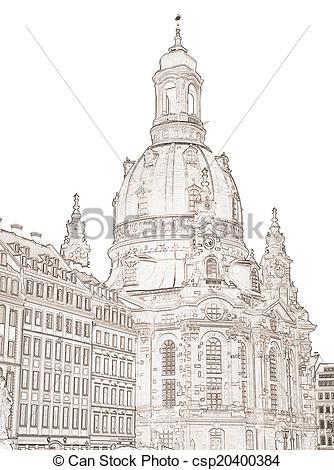 Dresden Frauenkirche Clip Art.