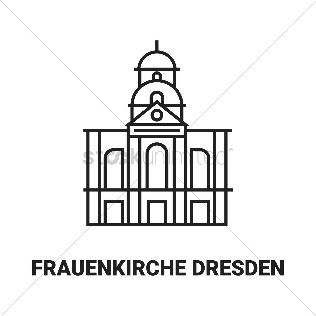 Frauenkirche dresden Vector Image.