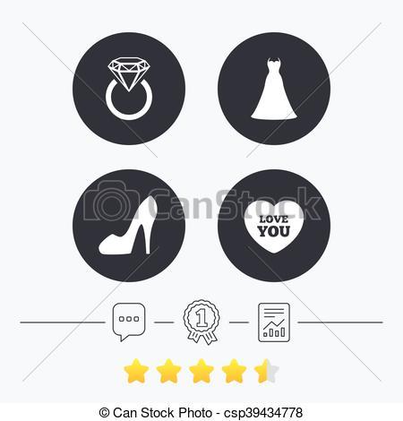 Vektoren Illustration von symbol, Frauen, Schuh, wedding, Ikone.