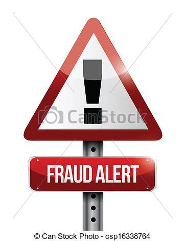 Fraud Alert Clip Art.