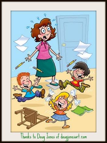 Crazy Teacher Clipart.