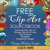 Free Clip Art from Vintage Holiday Crafts.