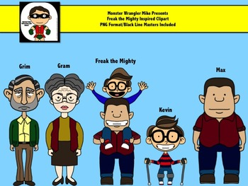 Freak the Mighty Inspired Clip Art Set by Monster Wrangler Mike.