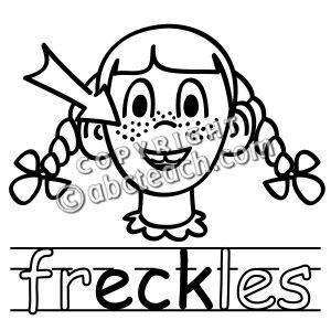 Freckles Clip Art.