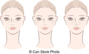 Freckles Illustrations and Clip Art. 504 Freckles royalty free.