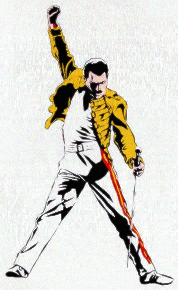 Freddie mercury clipart.
