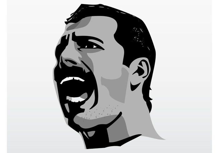 Singing Freddie Mercury.