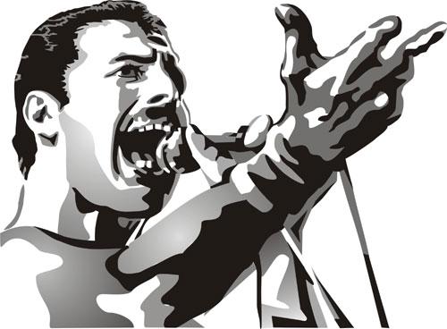 Freddie mercury clipart