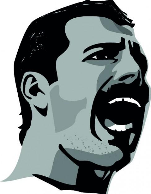 Freddie Mercury head Vector.