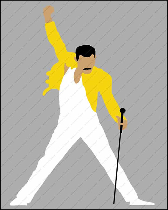 Queens Freddie Mercury Minimalist Printable by DistinctlyDigital.