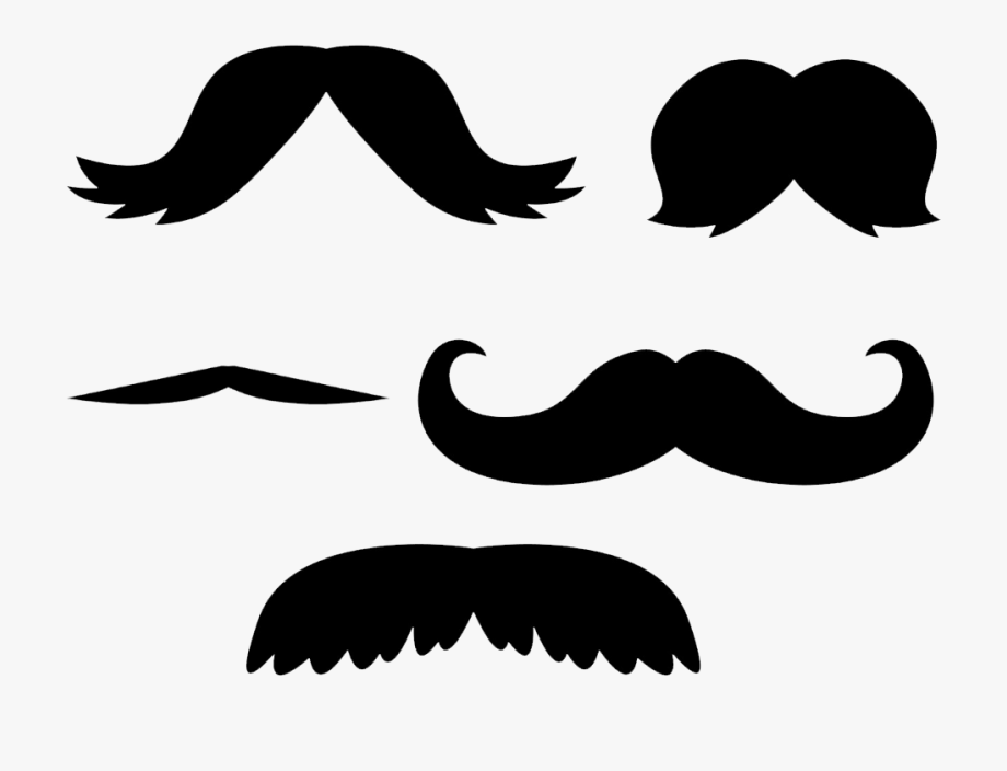 Transparent Background Mustache Clipart , Transparent.