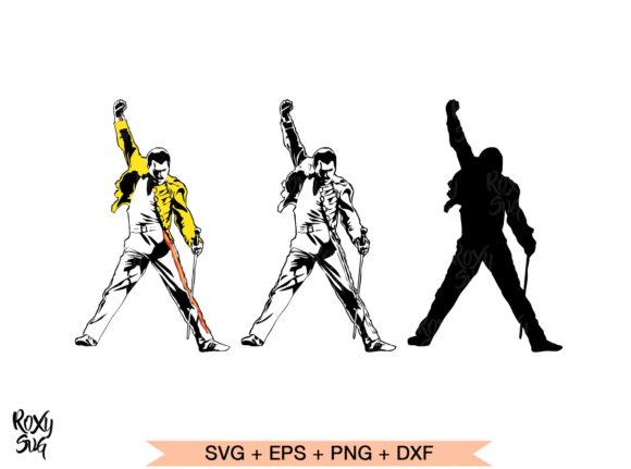 Freddie Mercury Vector Silhouette.