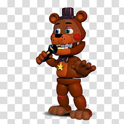 Rockstar Freddy(FNAF World) transparent background PNG.