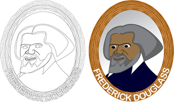 Frederick Douglass Clipart by Iae.