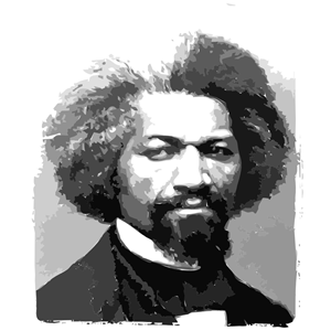 Frederick Douglass Portrait clipart, cliparts of Frederick Douglass.