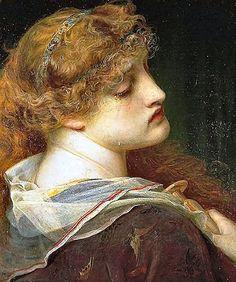 Frederick Sandys : Queen Eleanor.