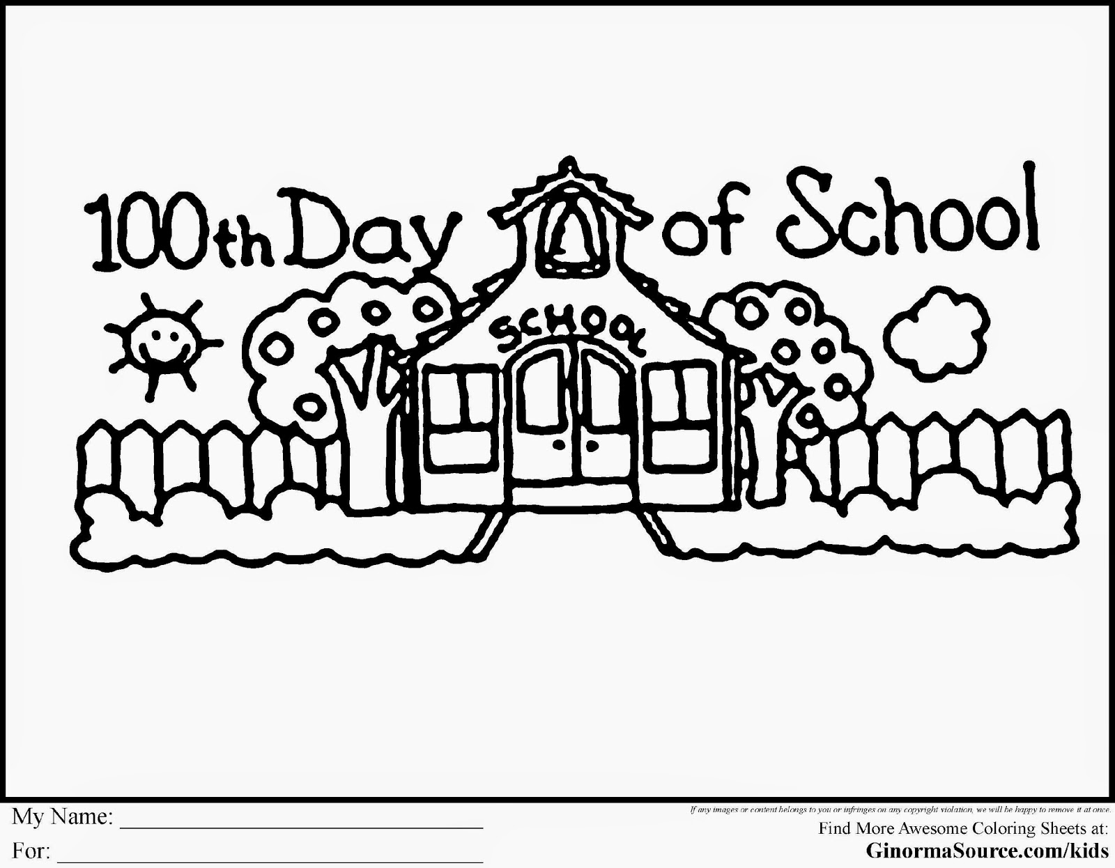 free coloring pages school days - photo#35