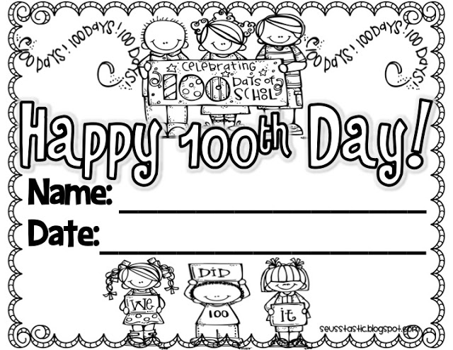free 100 days of school clipart