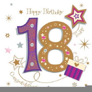 Library of free 18th birthday clipart library stock png.