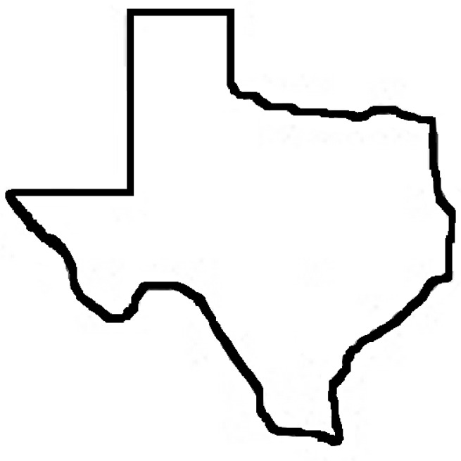 Free Outline Of The State Of Texas, Download Free Clip Art.