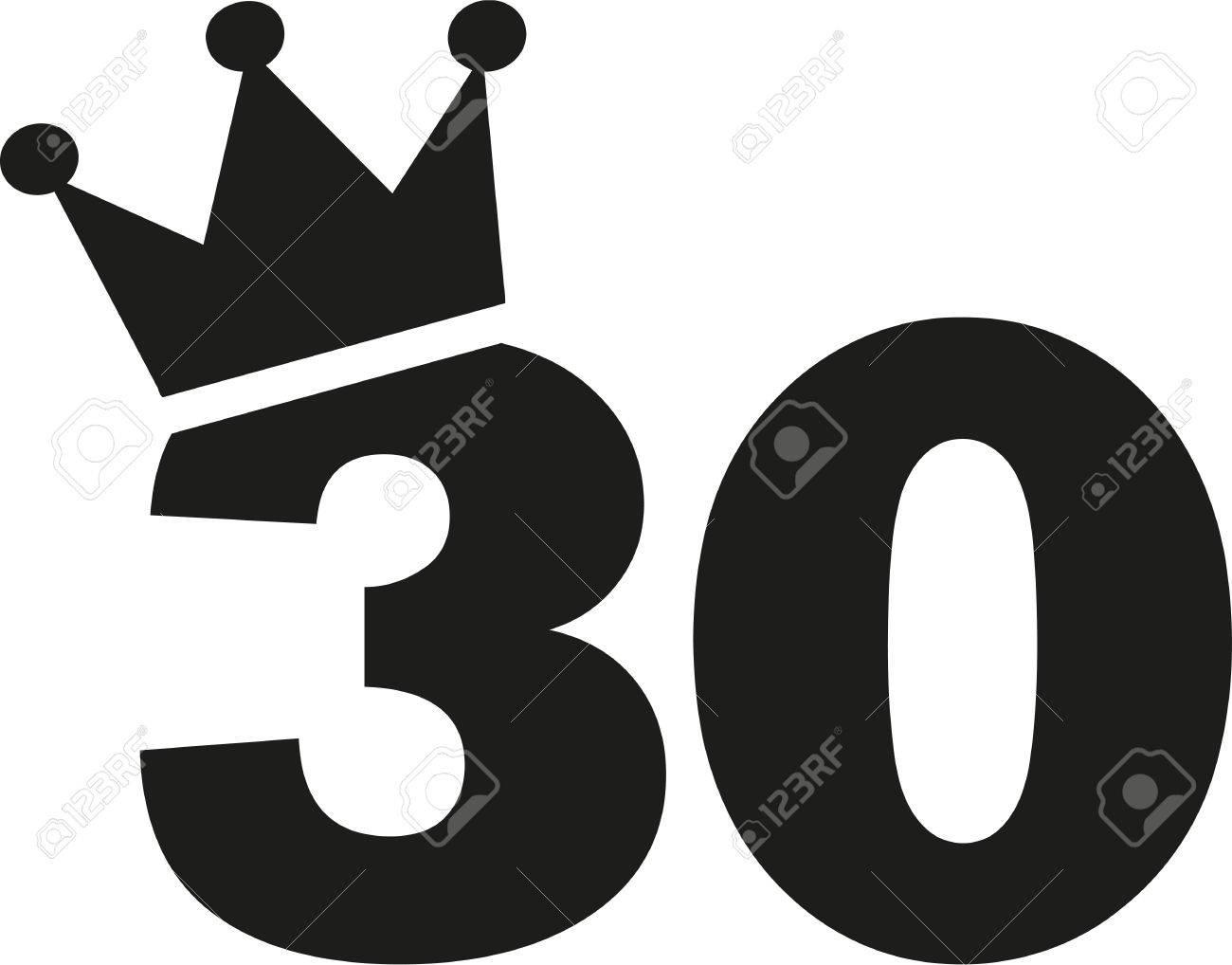 30th Birthday number crown.