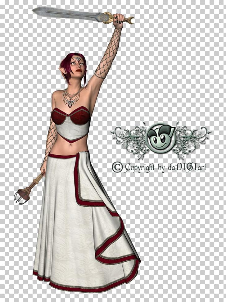 Gown Shoulder Costume, 3d models PNG clipart.