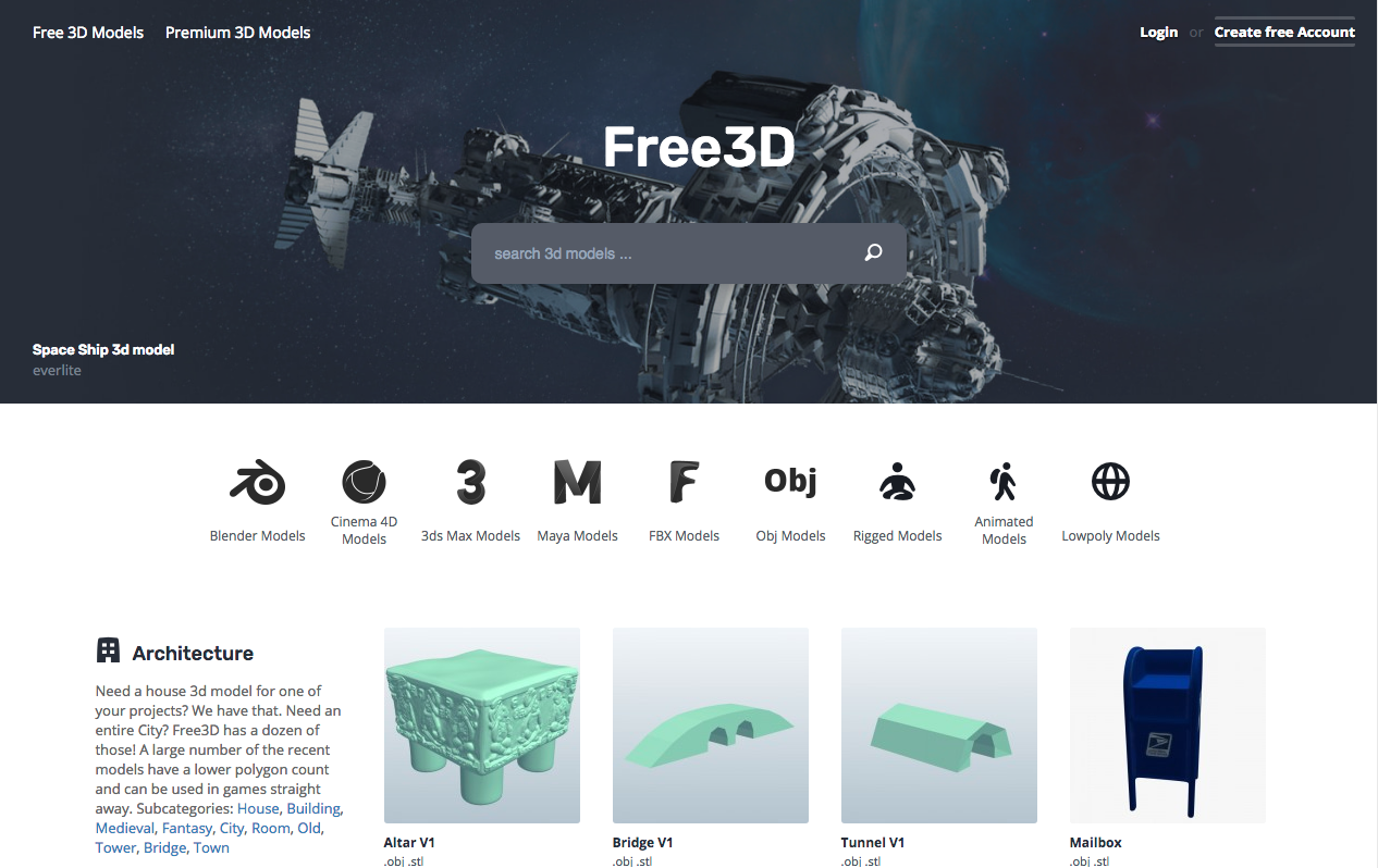 Top 10 Sites For Free 3D Game Art.