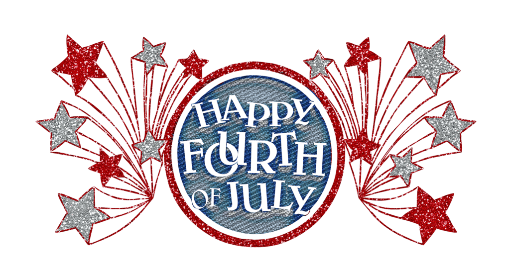 Happy Fourth Of July Glitter Banner.