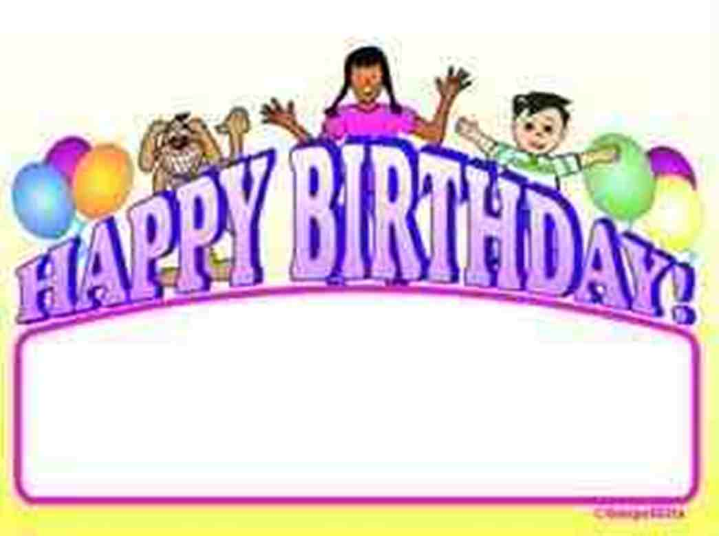 50th Birthday Clip Art Borders N2 free image.