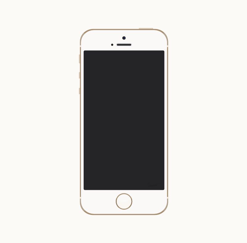 Free Clipart: Gold iPhone 5s.