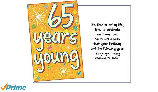 Amazon.com : Prime Greetings Happy 65th Birthday Card.