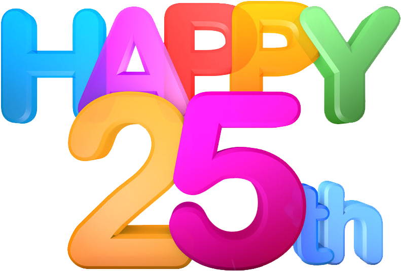25th Clipart.