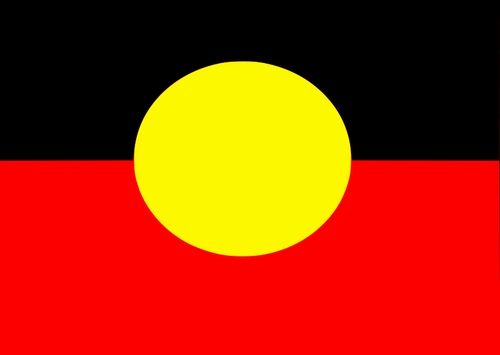 The Australian Aboriginal flag vector clip art.