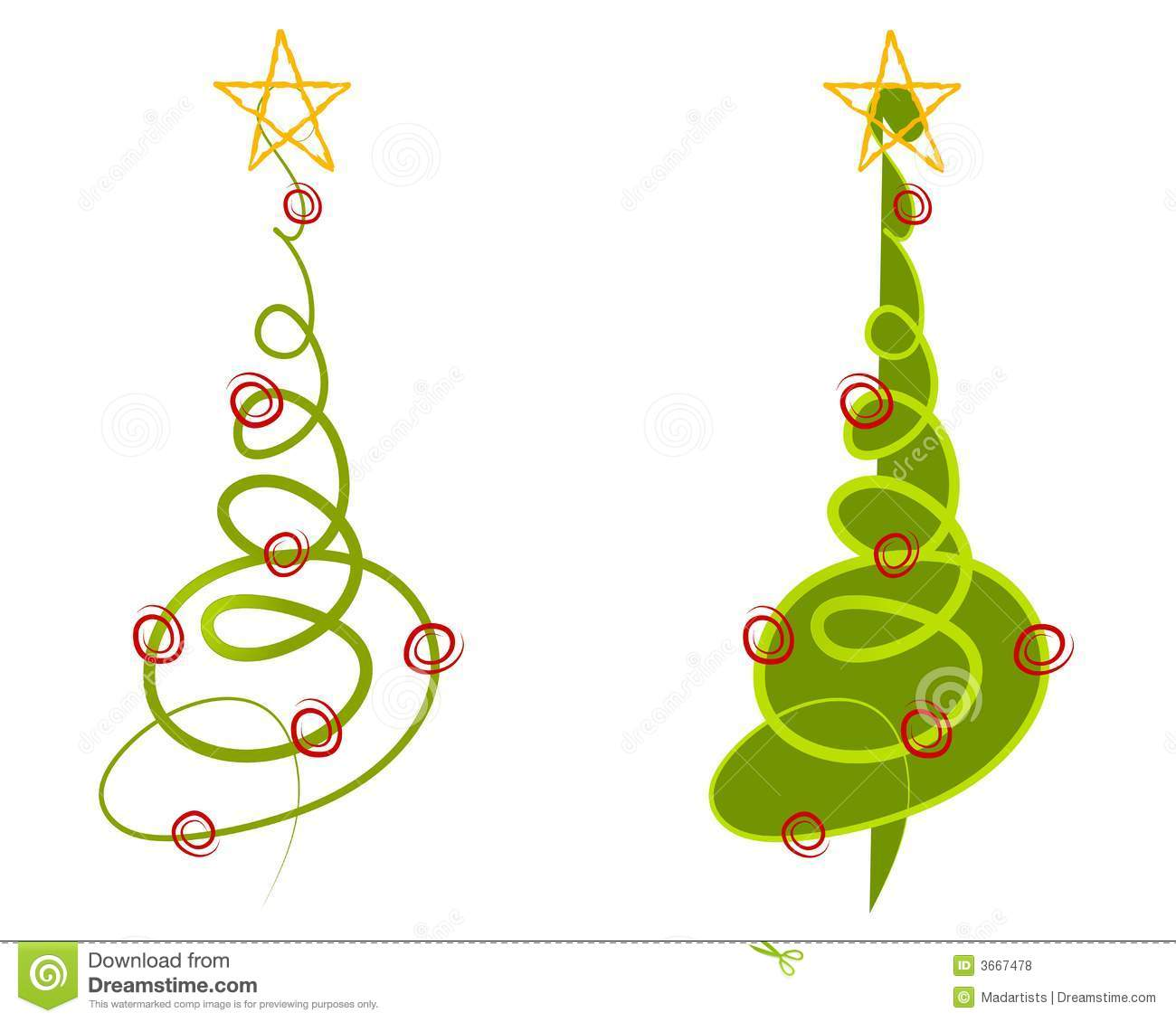 Abstract Christmas Tree Clipart.