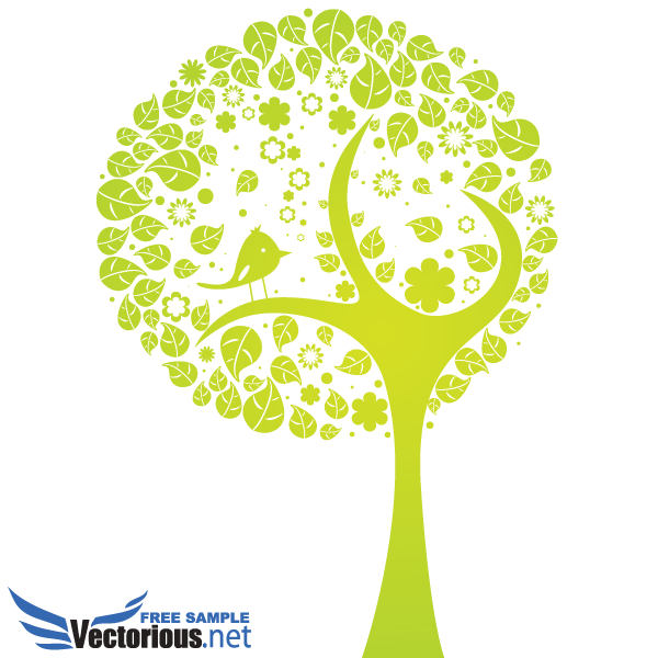 Free Vector Abstract Tree.