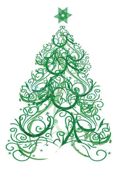 Christmas Tree Vector Art.