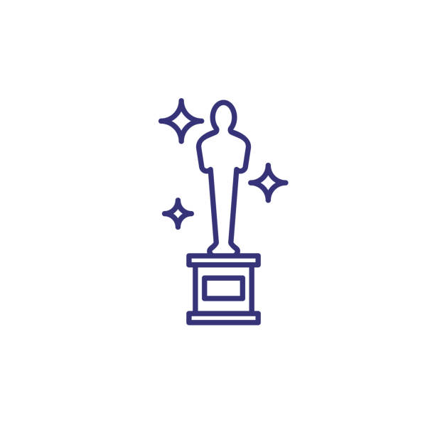 Best Academy Award Trophy Illustrations, Royalty.