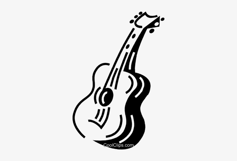Acoustic Guitar Royalty Free Vector Clip Art Illustration.