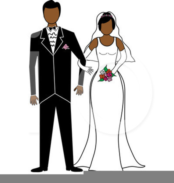 Free African American Wedding Clipart.