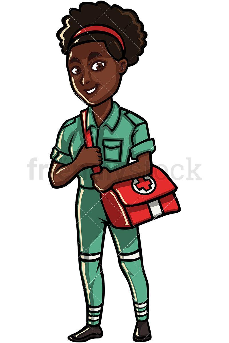 Black Female Paramedic.