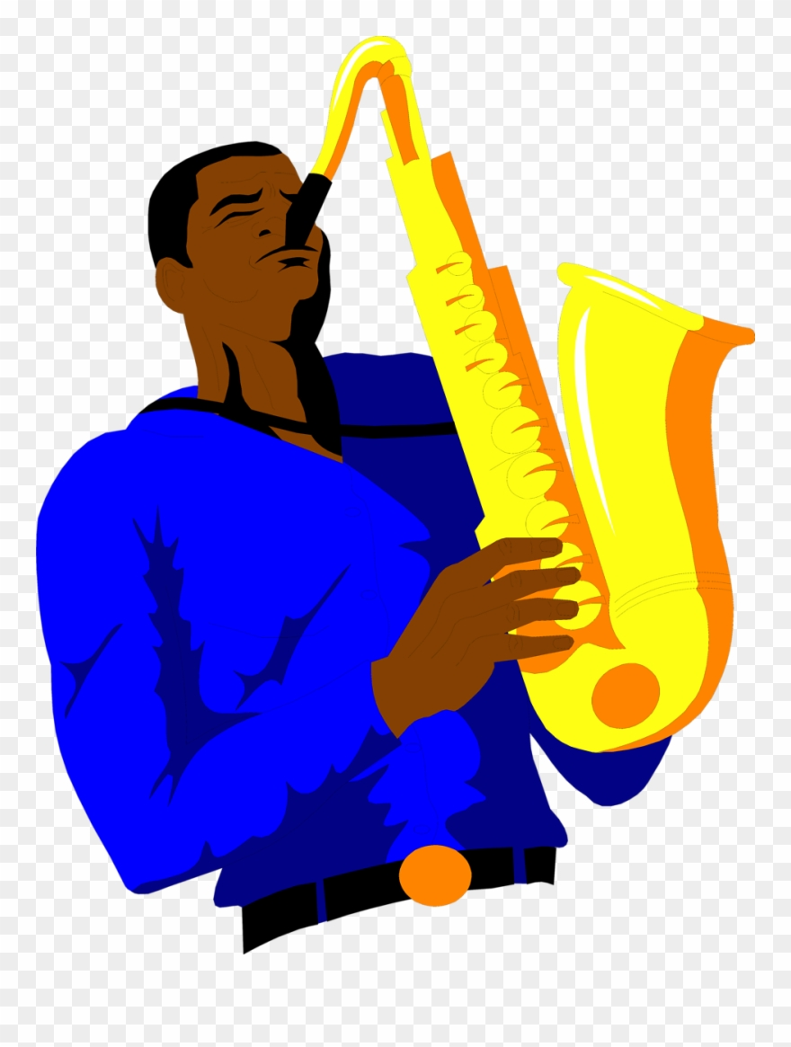 Saxophone Free An African American Clip Art.