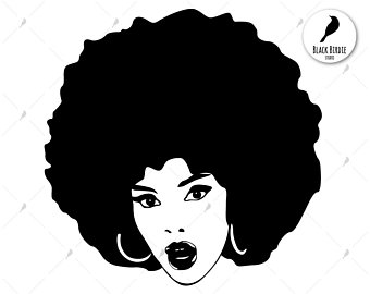 Afro clipart female, Afro female Transparent FREE for.