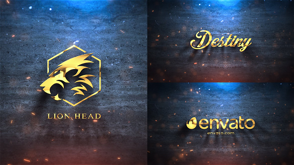 Silver & Gold Logo Reveal Free Download After Effects.