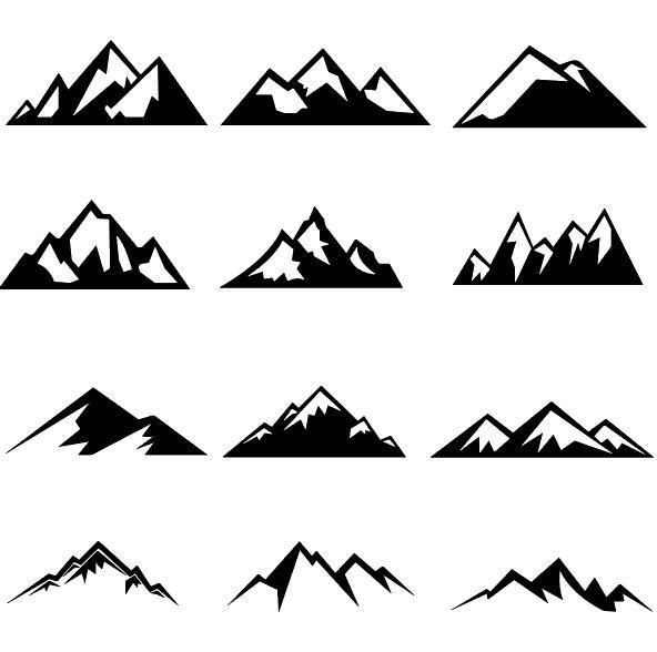 Free AI file Mountain illustration vectors set 03 download.